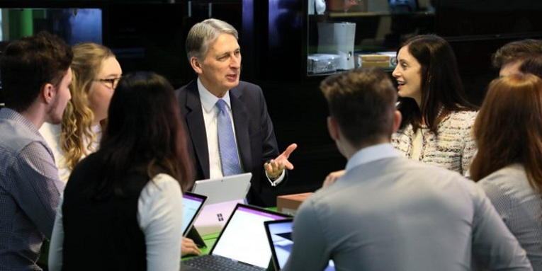The Rt Hon Philip Hammond visits Microsoft